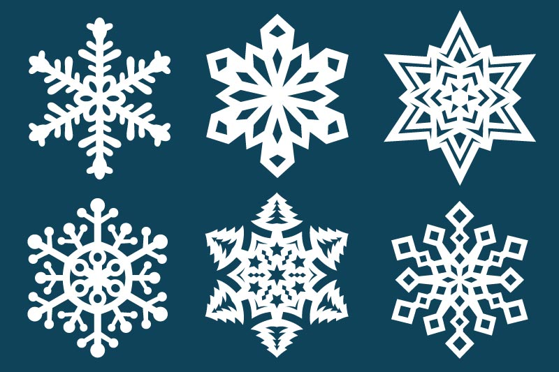 image about Snowflake Cutouts Printable named Paper Snowflake Templates Free of charge Printable Templates