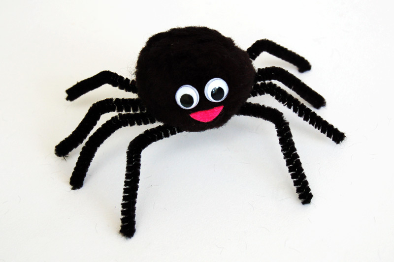 Pom-pom Spider craft