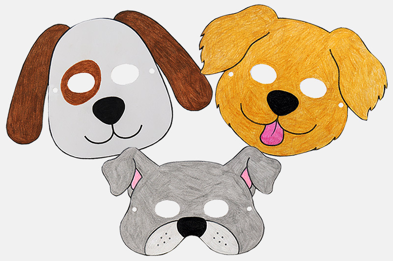 photo relating to Dog Printable identified as Doggy or Doggy Masks Totally free Printable Templates Coloring