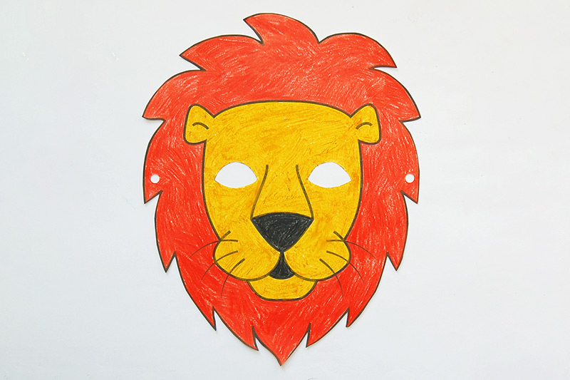 graphic relating to Printable Lion Masks named Lion Mask Absolutely free Printable Templates Coloring Webpages