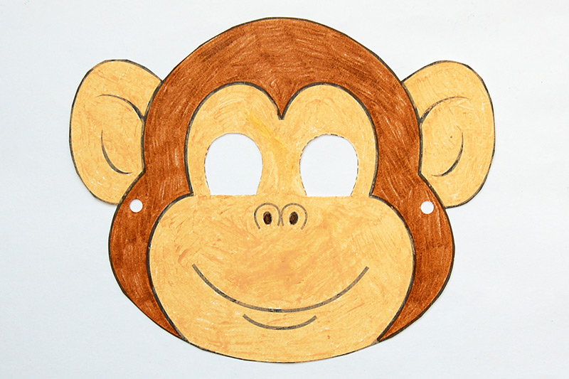 photograph relating to Monkey Mask Printable known as Monkey Mask Totally free Printable Templates Coloring Web pages