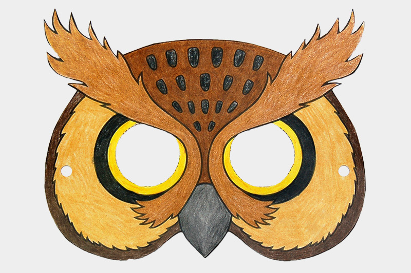 Owl Mask Free Printable Templates Coloring Pages