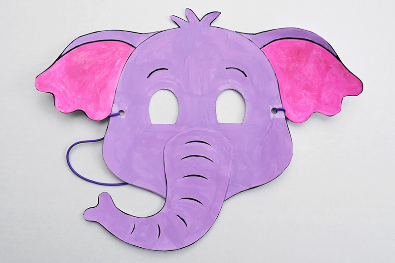 Printable Elephant Mask Kids Crafts Fun Craft Ideas Firstpalette Com