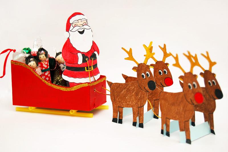 Santa Sleigh Kids Crafts Fun Craft Ideas Firstpalette Com