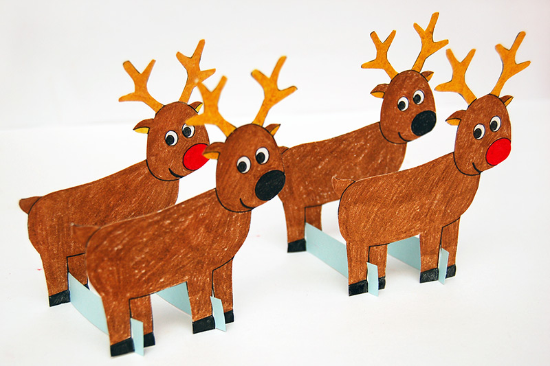 Christmas Reindeer | Free Printable Templates & Coloring ...