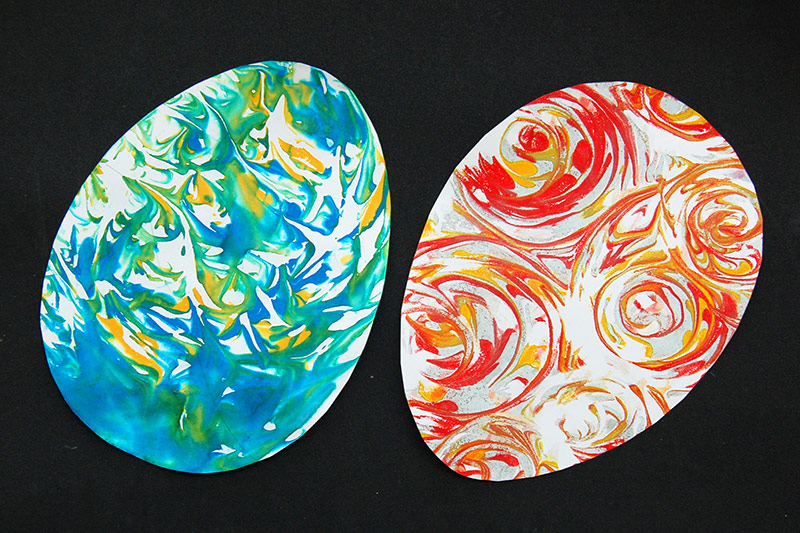 Shaving Foam Marbling - Easter Eggs
