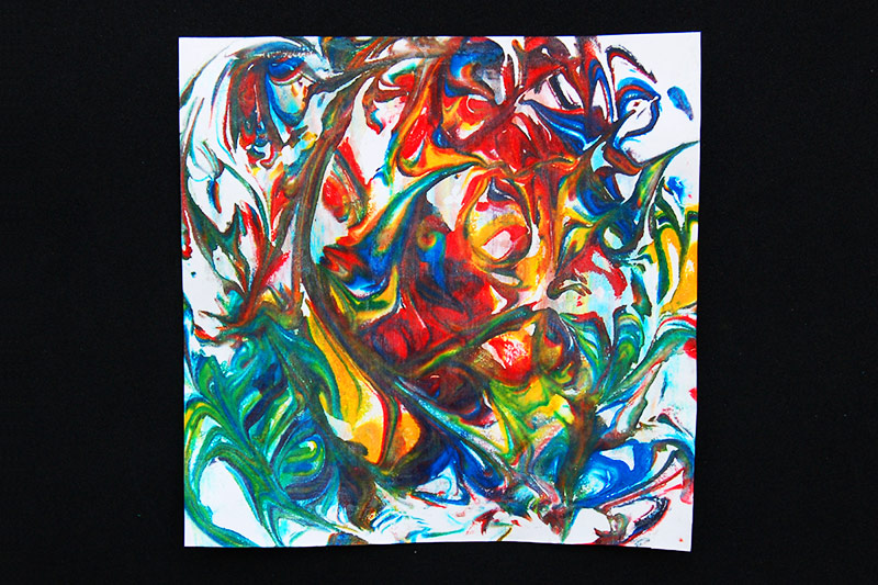 Shaving Foam Marbling Picture