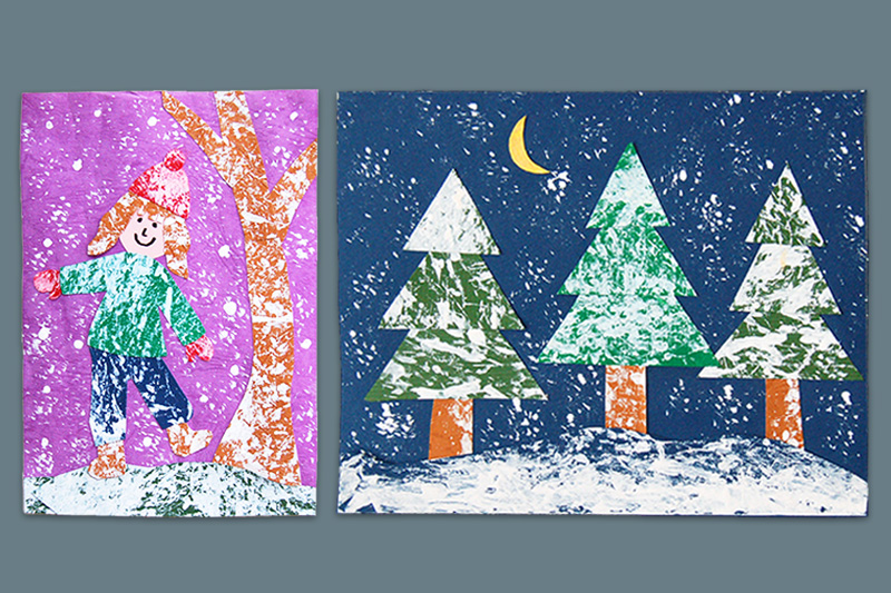 Snowy Day Collage craft