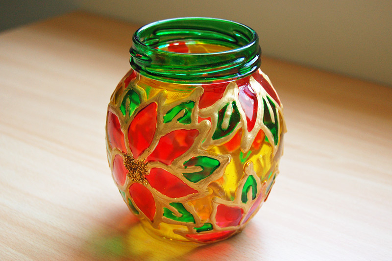 Stained Glass Jars