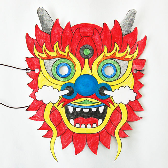 STEP 7 Chinese Dragon Mask