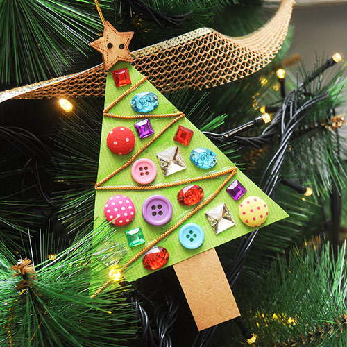 Christmas Tree Shapes Activity - Give as a gift.