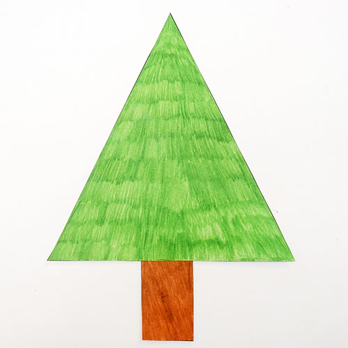 STEP 4 Christmas Tree Shapes Activity