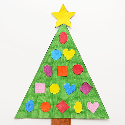 STEP 5 Christmas Tree Shapes Activity