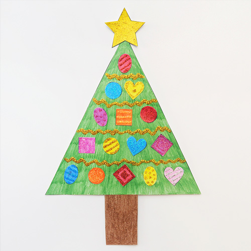 STEP 8 Christmas Tree Shapes Activity