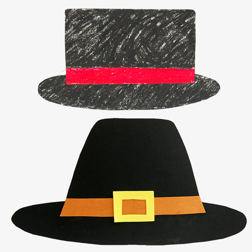MORE IDEAS - Make top hats like a magician's hat or a pilgrim's hat.