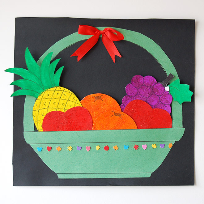 Fruit Basket Kids Crafts Fun Craft Ideas Firstpalette Com