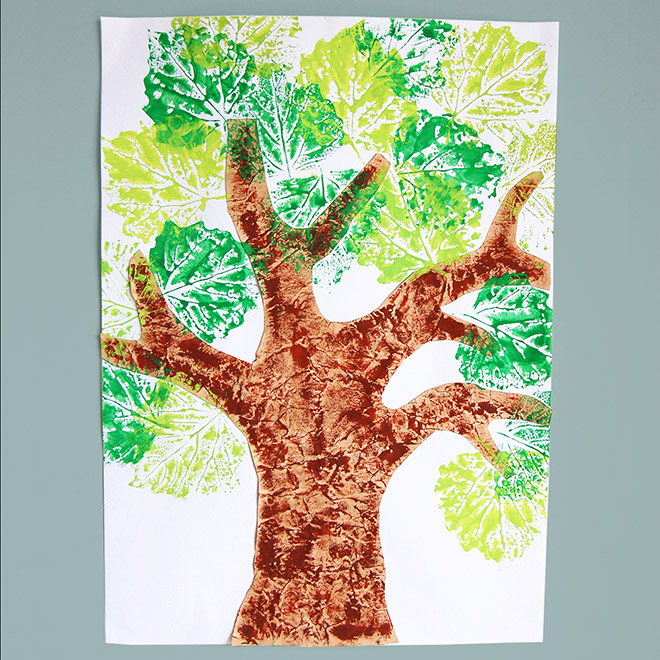 MORE IDEAS - Make a leaf prints tree.