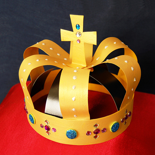 MORE IDEAS - Make a painted crown.