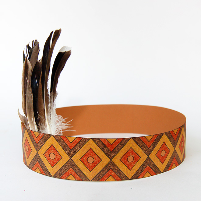 Native American Headband with Template
