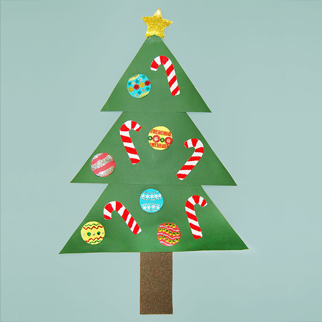 Paper Christmas Tree Kids Crafts Fun Craft Ideas Firstpalette Com