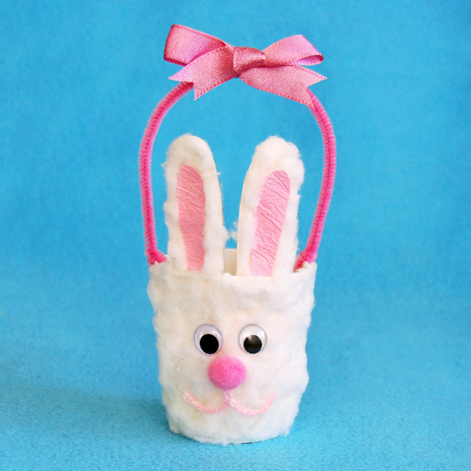 Paper Cup Bunny Basket Kids Crafts Fun Craft Ideas