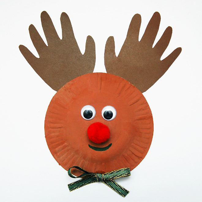 MORE IDEAS - Paper Plate Reindeer