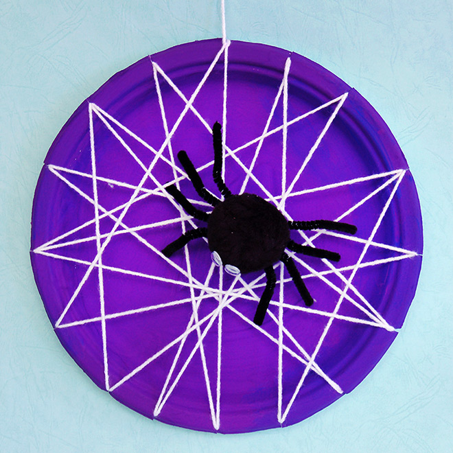 STEP 16 Paper Plate Spider Web