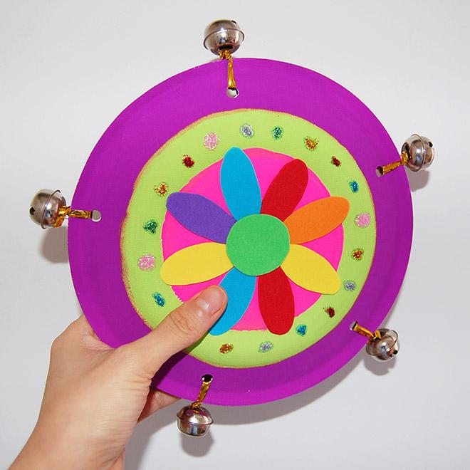 Paper Plate Tambourine Kids Crafts Fun Craft Ideas