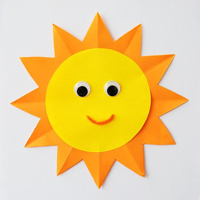 Paper Sun Kids Crafts Fun Craft Ideas Firstpalette Com