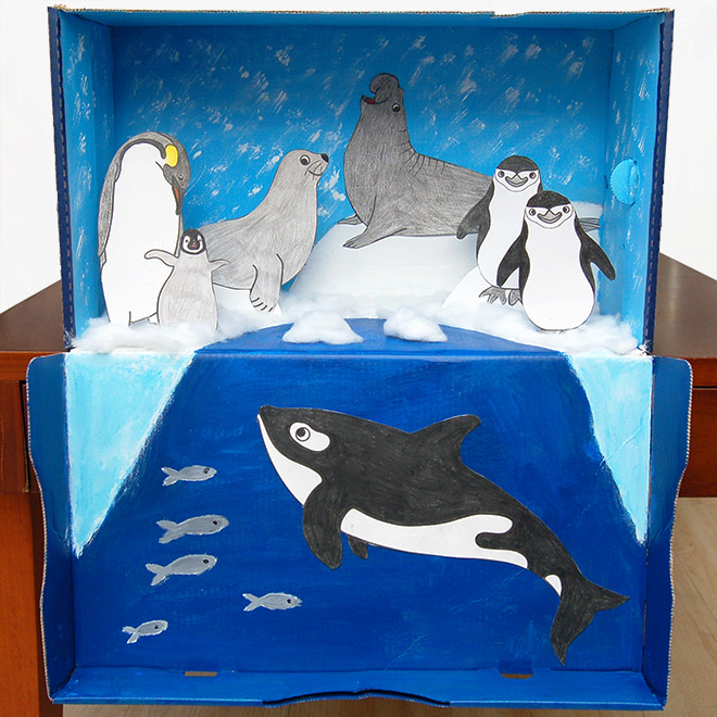 Polar Habitat Diorama Kids Crafts Fun Craft Ideas