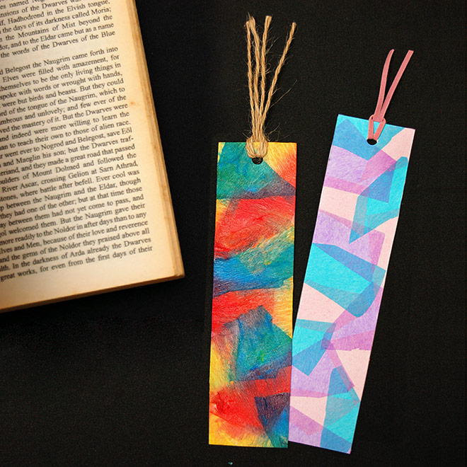Stained Glass Bookmarks Kids Crafts Fun Craft Ideas