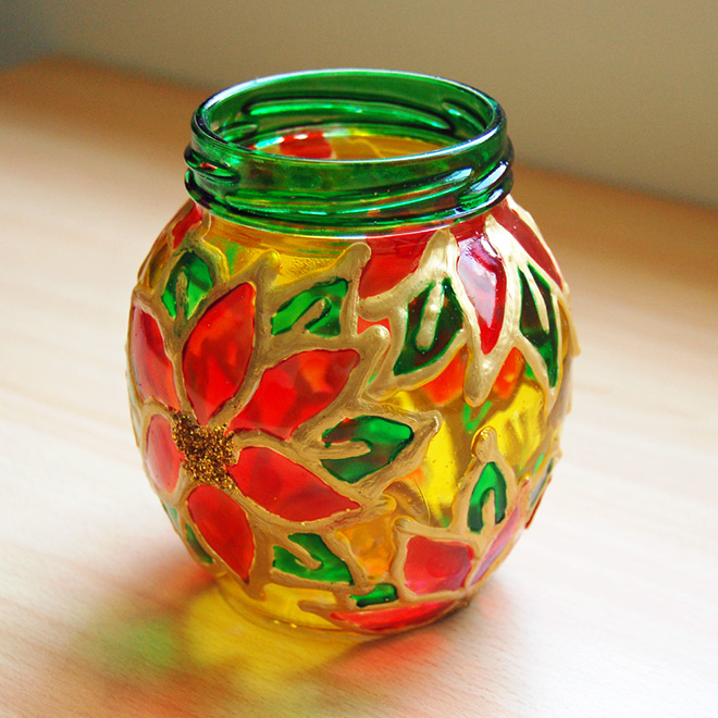 Stained Glass Jars Kids Crafts Fun Craft Ideas Firstpalette Com