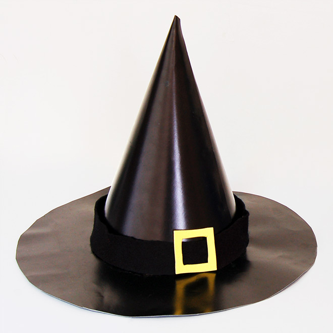 photograph about Witches Hat Template Printable named Witch Hat Youngsters Crafts Enjoyment Craft Suggestions