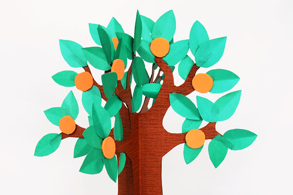3D Paper Tree - Fruit Tree