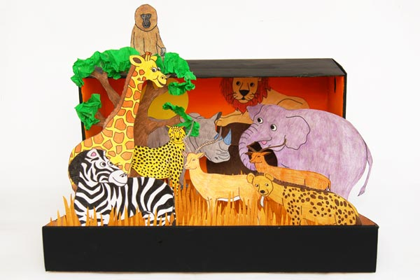 African Savanna Diorama craft