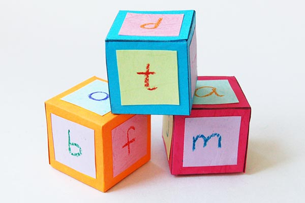 Alphabet Paper Blocks craft