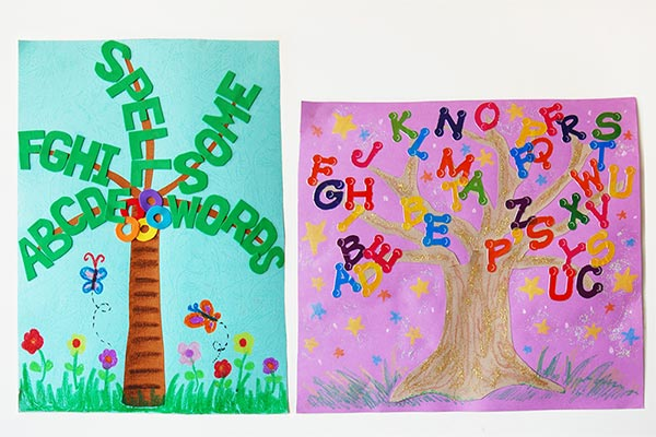Printable Alphabet Tree craft
