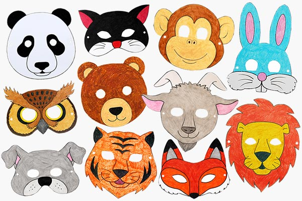 Printable Animal Masks craft