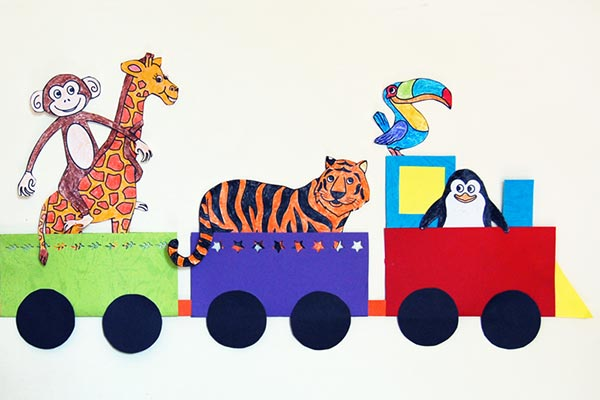 Animal Train craft