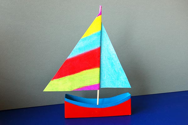 Box Sailboat craft