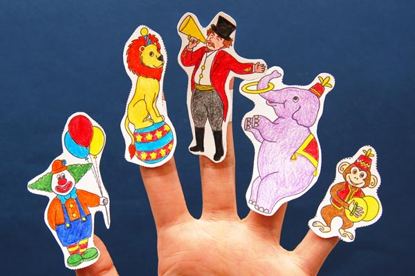 Circus Finger Puppets craft