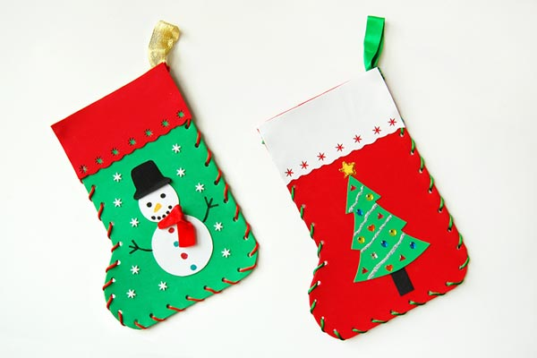 Craft Foam Christmas Stocking craft