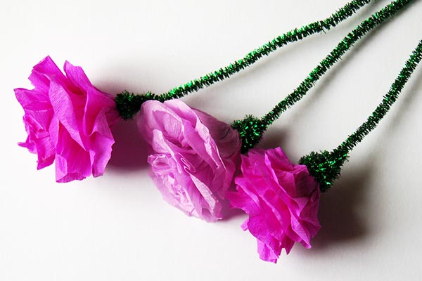 Crepe Paper Roses craft