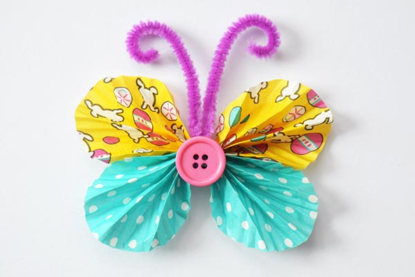 Cupcake Liner Butterflies craft