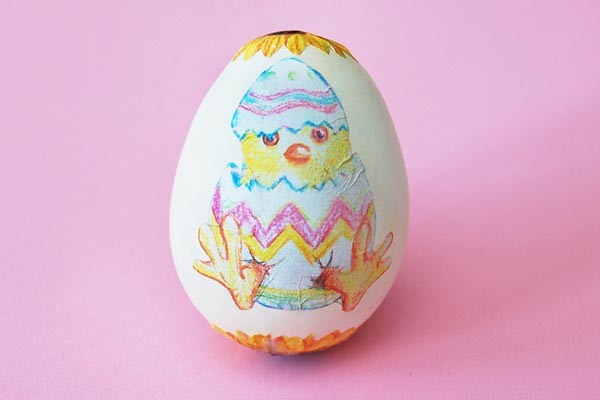 Decoupage Easter Eggs craft