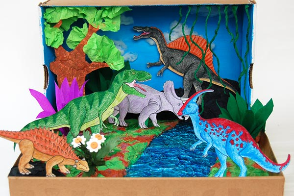 Dinosaur Diorama craft