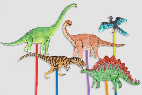 Dinosaur Stick Puppets craft