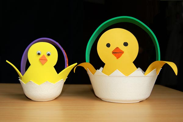 Easter Chick Basket craft