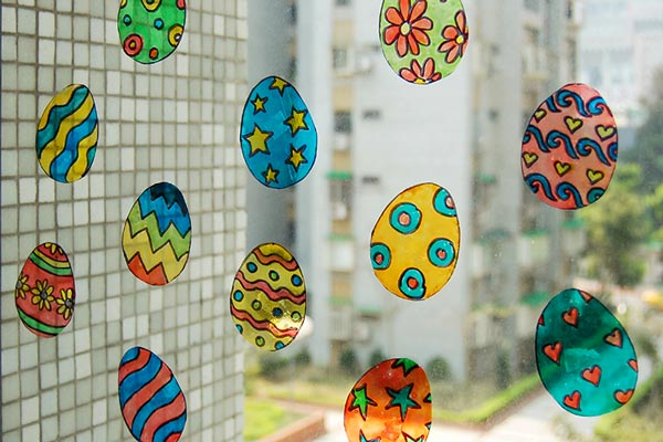 Easter Egg Suncatchers craft