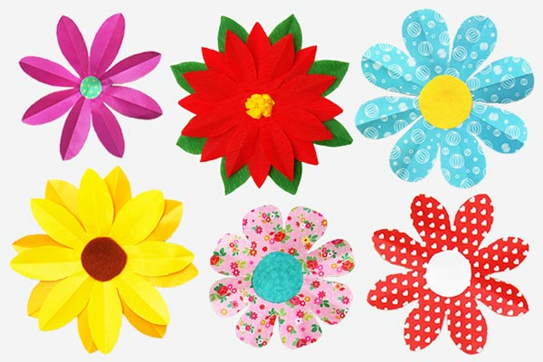 Folding Paper Flowers (8 Petals) craft